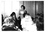 English Prof. Dr. Joan F. Adkins conducting an