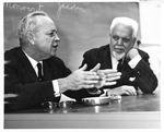 MU Prof. W. Page Pitt (right) interviewing Allen Rankin, editor of Reador's Digest