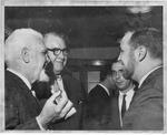 MU Journalism Prof. W. Page Pitt, (left, with goatee)