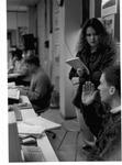 MU Journalism students Missy Rake and Tom Moyer, ca. 1992-93