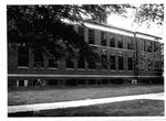 Exterior froint of Jenkins Hall, MU Lab School, ca. 1970's