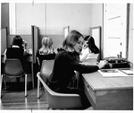 The booths in the Language Listening Lab in the Old Main Annex,