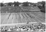 MU Band in a football pre-game show, at Fairfield Stadium, 1976