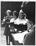 Trio singing at MU Convocation, ca. 1970