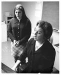 MU Music Prof. Jane Sheperd (seated) and Sherill Bender. ca. 1970's,