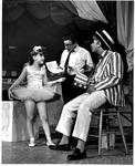 MU students at play rehearsel, Debbie Lewis & David Thompson, Dr. Eugene Hoak