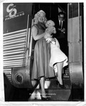 Dagmar Boarding a Train