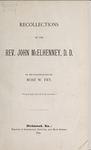 Recollections of the Rev. John McElhenney, D.D.