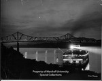 Night View of a Steam Boat and the Huntington 6th Street Bridge