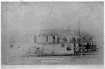 Sidewheel batwing boat J. C. Hopkins No.2 pushing log rafts