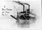 Photo Christmas card showing steamboat Rees Lee