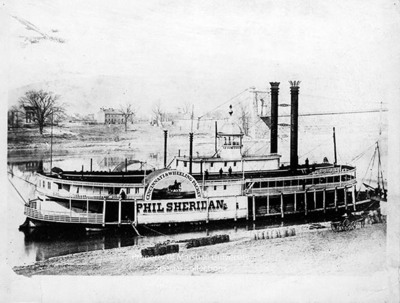 Cincinnati wheeling steam packet boat phil sheridan by for Marshalls cincinnati oh