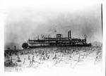 Steamboat Virginia run aground in a cornfield