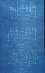 Small blueprints of residence of Mr. & Mrs. Frank Gibson, Maysville, Ky