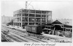 NE view, Construction of building of Huntington Drug Co. Bldg., Huntington, W.Va.,
