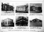 Page of 6 photos of Sidney Day buildings he designed, ca. 1950
