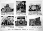 Page of 6 photos of churches designed by Sidney Day, ca. 1950