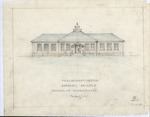 Preliminary sketch by Sidney Day of Marshall College School of Journalism building