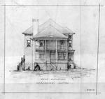 Sketch of rear elevation of Tynes residence, Bath Ave., Ashland, Ky.