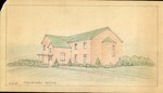 Preliminary sketch of house, probably Sidney Day's, 1958