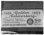 Photo of signboard of Rotary's Golden Anniversary, 1955