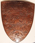 Media Type: Engraved bronze shield