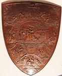 Media Type: Engraved bronze shield