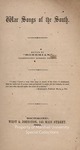 War Songs of the South (songbook) by William Shepperson, ed.