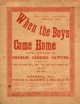 When the Boys Come Home! (red) by Charles Carroll Sawyer