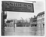 Flood of Jan. 1937, Snider's Locksmiths, 11th Street between 4 & 5th Ave, facing north