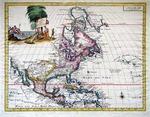 Carta Geographica dell America Settentrionale by Guillaume De L'Isle