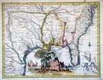 Carta Geographical della Florida nell America Settentrionale by Guillaume De L'Isle