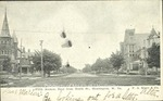 Fifth Avenue Looking East from 10th Street, Showing Churches. Huntington, Cabell County, W. Va.
