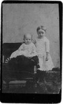 Sisters Willa (seated) & Beulah Tinsley, ca. 1890's