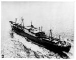 "Soviet ship ""Divinogorsk,"" departing Cuba with four missiles aboard, Nov. 6, 1962"