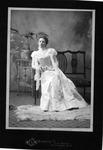Sarah Sloane in her wedding dress, Dec. 1897