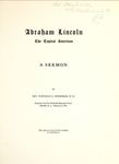 Abraham Lincoln, the Typical American: A Sermon by Winfield Columbus Snodgrass