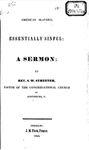 American Slavery, Essentially Sinful: A Sermon by S. W. Streeter