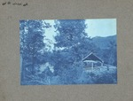 Unidentified location, log cabin and drying shed
