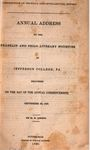 Misdirection of Physical and Intellectual Effort: Annual Address to the Franklin and Philo Literary Societies of Jefferson College, PA. Delivered on the Day of the Annual Commencement, September 28, 1837 by Elisha Pope Swift