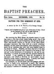 Baptism for the Remission of Sins by Eldred Burder Teague