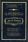 Memorial remembrance card of John W. Thornburg
