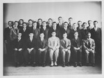Class at Johns Hopkins University, William Birke 2nd from l, 1st row