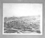 Log raft in Guyan River, near 3rd Ave., Huntington, W.Va.