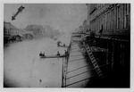 Flood of 1884, 3rd Ave between 9th & 10th Streets, looking west, Huntington, W.Va.