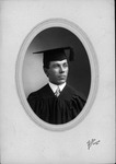 Willis Hayes Franklin in cap and gown at Allegheny College, Pa.