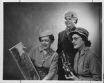 Huntington Women's Club event forum, Jan. 1957