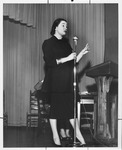 Maggie Daly at Huntington Women's Club general meeting, Jan. 1957 by Cazad