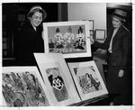 Huntington Women's Club children's art exhibit, Jan. 1958 by Jack Burnett