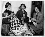 Huntington Women's Club doll booth, Ocft. 1955